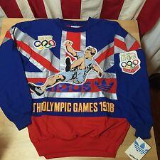 VTG Adidas London Olympics Sweatshirt 80's Trefoil Brand New Vintage Large