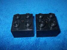 LEGO DUPLO RITTERBURG 2 X 4er NOPPEN STEIN 4777 4988 4785 ERSATZTEIL SCHWARZ