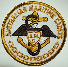 Australian Maritime Cadets Cloth Patch - 75 mm x 75 mm - As New - Never Used