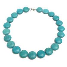 Collier Médaille Madone Marie Vierge P Perles Turquoise Zirco Bleu Réf Gigi5 New