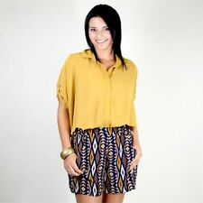 Geometric Polyester Shorts for Women