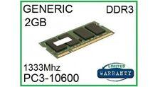 Genérico 2 GB DDR3 2Rx8 PC3-10600S 1066 MHz Memoria RAM para computadora portátil 1.5 V 204-PIN Sodimm