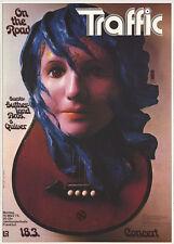 Traffic German A1 1974 concert poster Steve Winwood Gunther Kieser Art