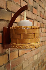 60er TEAK WANDLAMPE LEUCHTE WALL LAMP LAMPE DANISH MODERN DESIGN Jalk Juhl Ära 2