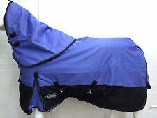 AXIOM 1800D BALLISTIC VIOLET/ BLK 300g HORSE RUG w/h DETACHABLE NECK RUG- 5' 6