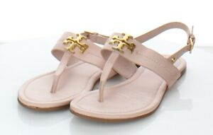 47-29 $228 Women's Sz 8 M Tory Burch Everly T-Strap Flat Sandal In Shell Pink