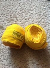 Vintage Ringside Boxing Wraps + Classic Bally Total Fitness Weight Gloves