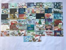 Starbucks 2017 Christmas Holiday  Gift Card Set of 44 Cards  NEW