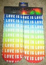 NWT Living Royal Rainbow LOVE IS Ankle Socks new One Size