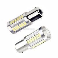 LED Car 2x White Bulb BA15S P21W 1156 Backup Reverse Light 33-SMD 5630 5730 UK