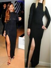 Full Length Viscose Polo Neck Regular Size Dresses for Women