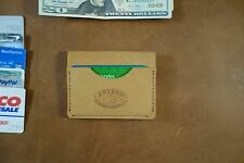$20.00 OFF   WAS $49.95  NOW $29.95  HANDMADE LEATHER BI-FOLD WALLET 3 pocket,