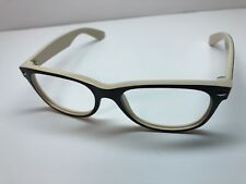 Ray Ban RB 2132 New Wayfarer 875 Sunglasses Black On Beige Frames 55/18