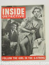 """""""Inside Detective"""" January 1955 """"Follow The Girl in The G-String"""""""