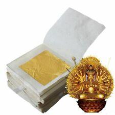 10Pcs 24K Pure Genuine Edible Gold Leaf Foil Sheet Gold Foil Decor Foil Golden-