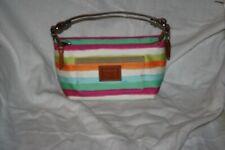 Coach Watercolor Striped Handbag