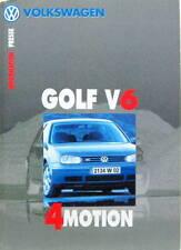 1999 VOLKSWAGEN GOLF V6 4MOTION DOSSIER DE PRESSE EN FRANCAIS PRESS