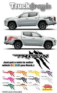 Mitsubishi L200 TRITON CLAWMARK Pick up 4x4 VEHICLE GRAPHICS DECALS STICKERS x2