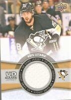 2015-16 Upper Deck UD Game Jersey Kris Letang Pittsburgh Penguins