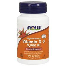 Vitamine D3 Haut Puissance 5000IU 240 Gélule Soleil Immunité OS Supplément