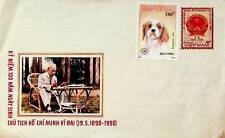 VIETNAM FORMER PRESIDENT HO CHI MINH 1990 ILLUSTRATED UNSTAMPED COVER W/ 2v