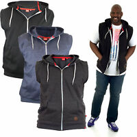 D555 KINGSIZE LARGE MENS SLEEVELESS HOODIE HOODY 2XL 3XL 4XL 5XL 6XL (KS16651)