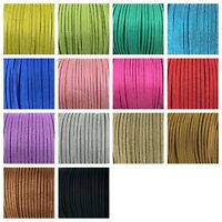 95 yards 3mm Roll Faux Suede Glitter Metallic Powder Leather Cord Lace String