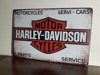 ⭐ Blechschild Harley Davidson ⭐ Retro 20 x 30 cm Vintage Nostalgie Deko NEU ✅