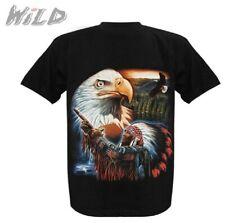 M L XL Weißkopfadler Eagle glow in dark Biker Indianer T-Shirt Adler Mandela Gr