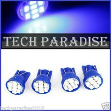 2x Ampoule T10 / W5W / W3W LED 8 SMD 1206 Bleu Blue veilleuse lampe light 12V