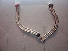 925 Sterling Silver Omega Mirror Earrings w/Butterfly Backs