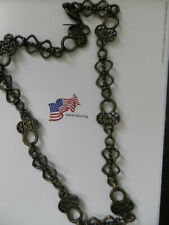 vintage look by The Limited 15 inch antiqued brass choker