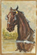"""Ludwig Koch """"Horse study"""", small oil painting, early 20th century"""