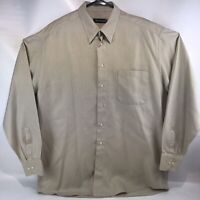 ST. CROIX Light Brown Long Sleeve Button Up Made in Italy Adult Men's Size XL