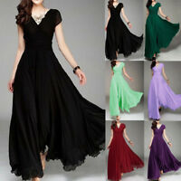 Womens Long Formal Prom Dress Cocktail Party Gown Evening Bridesmaid Dresses