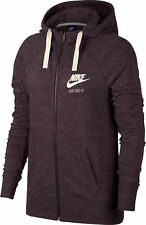 Nike W NSW Gym Vntg hoodie FZ Felpa Donna Port Wine/sail M (q9g)