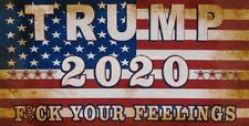 Trump 2020 F*ck Your Feelings Vinyl Decal Bumper Sticker