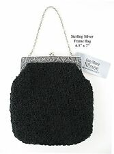 Hand Crocheted Purse With Sterling Silver Frame Style 112S