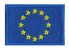 Patch UE écusson patche drapeau EUROPE 70 x 45 mm à coudre embleme