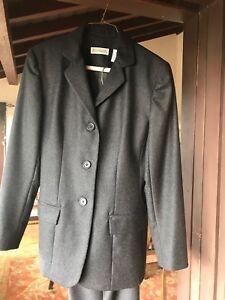 Charcoal color Wool pant suit set 100% wool- Ann Taylor  size 4
