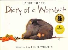 DIARY OF A WOMBAT - JACKIE FRENCH PICTUREBOOK EXCELLENT CHILDREN'S  BOARDBOOK