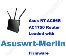 Asus RT-AC66U RT-AC66R AC1750 Wireless Router with Asuswrt-merlin Firmware