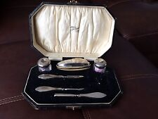 Ladies Vintage Silver Manicure Set In Case - Birmingham 1928