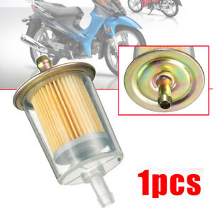 """Inline Gas Petrol Fuel Filter 8mm 3/8"""" Pipe Line For Truck Motorcycle Universal"""