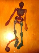Rubber monster Jiggler 1960s jointed Skeleton w/ ball & chain Creepy Crawler