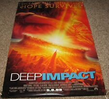 Deep Impact Movie Poster 2 Sided Robert Duvall Mary McCormack Téa Leoni