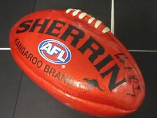 St.Kilda - Robert Harvey signed red soft touch sherrin football