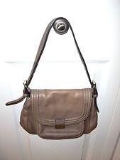 "Ladies""CALVIN KLEIN""Leather Taupe Hand Shoulder Bag Purse 9""LX7""HX3""D~SUPER CUTE"