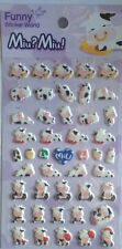 Miu?Miu! Cow Puffy STICKERS Sheet of 46 Funny Sticker World Korea Kawaii