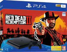 BUNDLE CONSOLE SONY PS4 SLIM 1TB DUALSHOCK + GIOCO RED DEAD REDEMPTION 2 BLU RAY